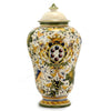 MAJOLICA CAFFAGIOLO: Traditional large Potiche urn with lid