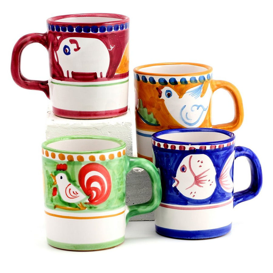 VIETRI MUGS: Set of FOUR Mugs as shown