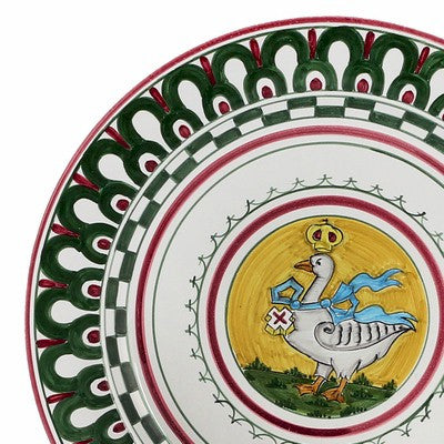 PALIO DI SIENA: OCA (Goose) Charger (also hung as a wall plate)