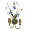 ALBA LAMP: Wall Light Sconce Ivory Blue Swarovski Blue