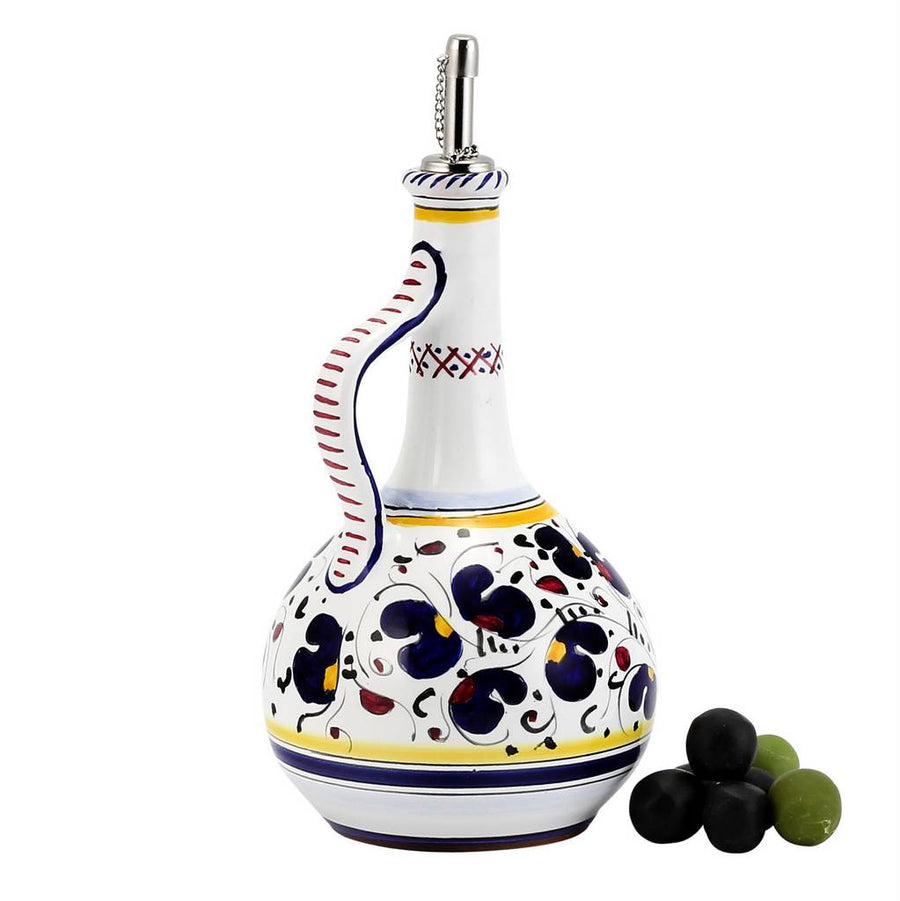 ORVIETO BLUE ROOSTER: Olive Oil Bottle  Dispenser Deluxe