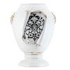 SURPRISE: Jar Orcio Urn Vase Deruta Vario Nero Antique White (XLarge)