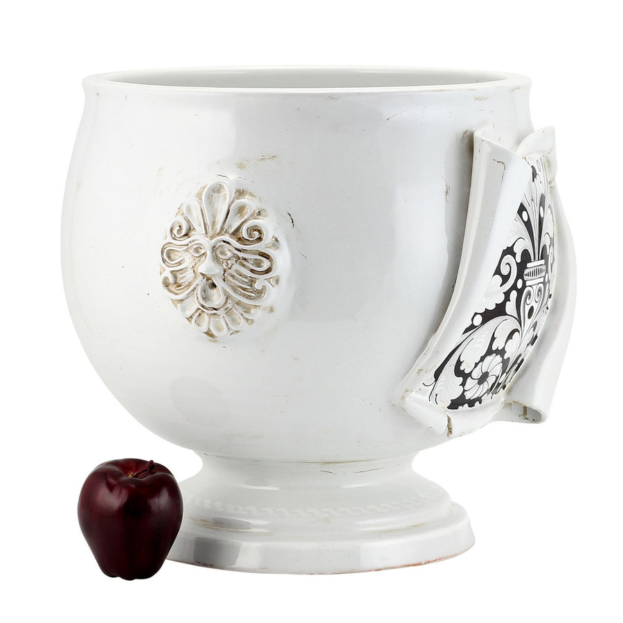 SURPRISE: Cachepot Planter Deruta Vario Nero Antique White (Medium)