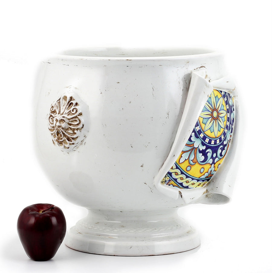 SURPRISE: Cachepot Planter Deruta Vario Antique White (Medium)