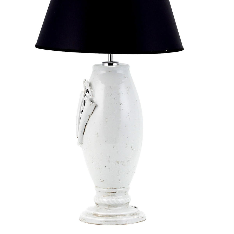 SURPRISE: Lamp Deruta Vario Black Gray with black Shade Antique White