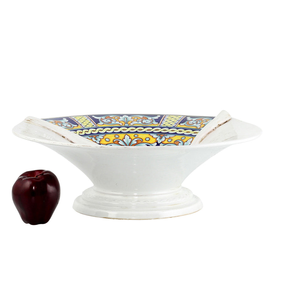 SURPRISE: Footed Centerpiece Deruta Vario Antique White (Large)