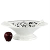 SURPRISE: Footed Centerpiece Deruta Vario Nero Antique White (XLarge)