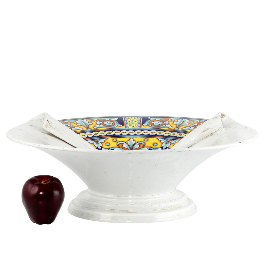 SURPRISE: Footed Centerpiece Deruta Vario Antique White (XLarge)