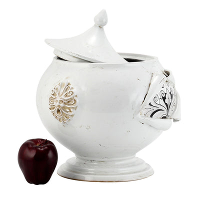 SURPRISE: Tureen Centerpiece Deruta Vario Nero Antique White