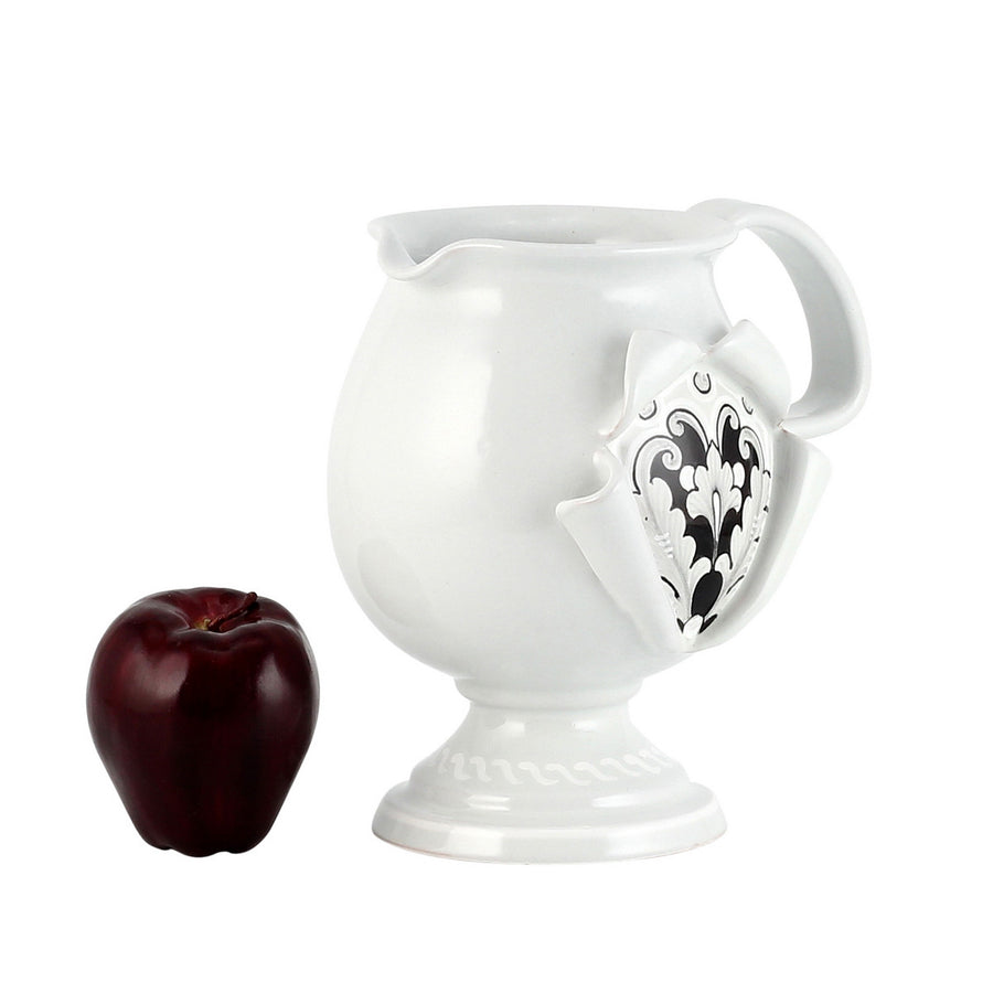 SURPRISE: Pitcher Deruta Vario Nero Antique White