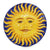 FRATELLO SOLE SORELLA LUNA: Hand Painted Ceramic Celestial Sun Wall Plaque