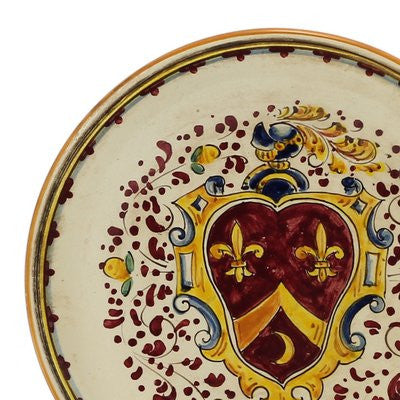 MONTELUPO ROSSO: Wall plate with Florentine crest (10D)