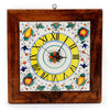 FRUTTINA: Square Wall Clock on reclaimed wood frame