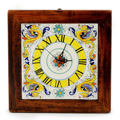 RAFFAELLESCO: Square Wall Clock on reclaimed wood frame
