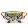 MAJOLICA TOSCANA: Round Centerpiece Bowl with Lion-Feet