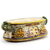 MAJOLICA MEDICI: Oval Jardiniere Cachepot with scroll handles and DeMedici Crest