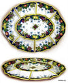 MAJOLICA FRUTTA: Extra Large Antipastiera Compartment Server Tray (Seven modular pieces)