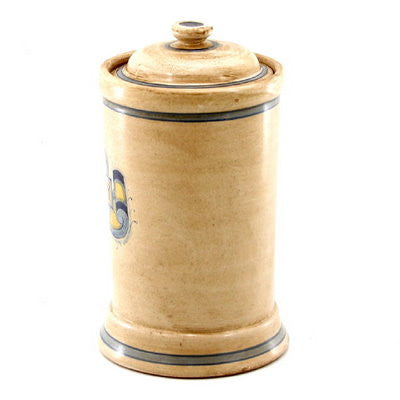MAJOLICA: Cylindrical Apothecary Canister