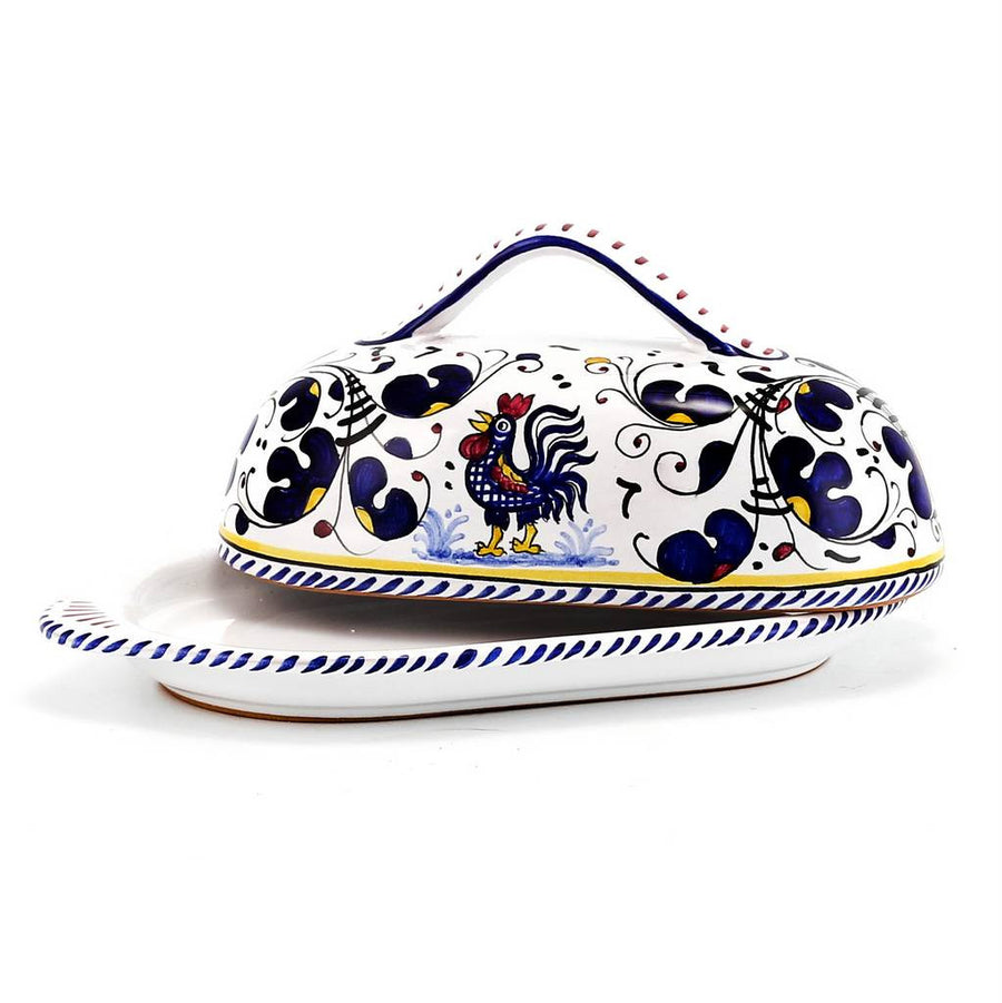 ORVIETO BLUE: Butter Dish with Cover