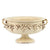 SOFIA ANTIQUE IVORY: Footed Bowl with Bass Relief Decoration