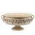 SOFIA ANTIQUE IVORY: Footed Bowl with Bass Relief Decoration (Large)