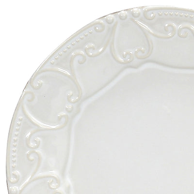 SKYROS: ISABELLA - Embossed Salad Plate Pure White