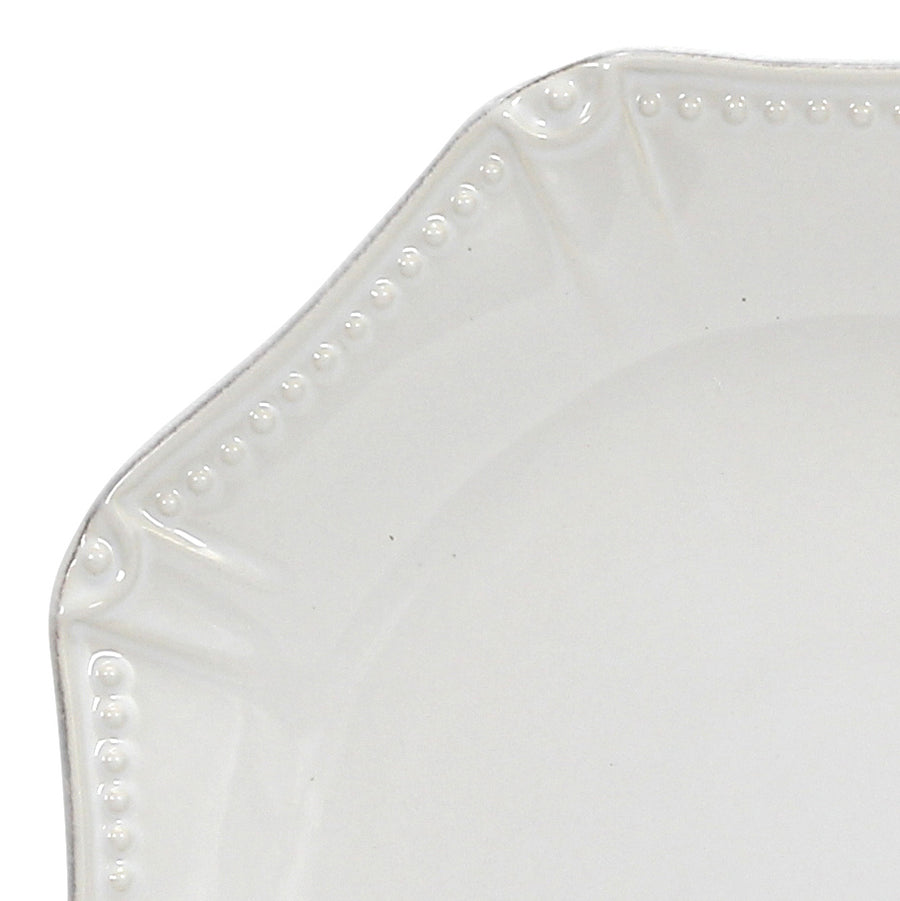 SKYROS: ISABELLA - Dinner Plate Octagonal Pure White