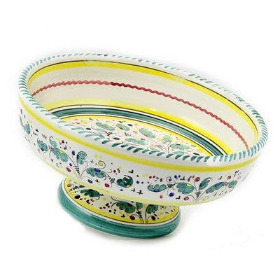 ORVIETO VERDE: Footed Fruit bowl
