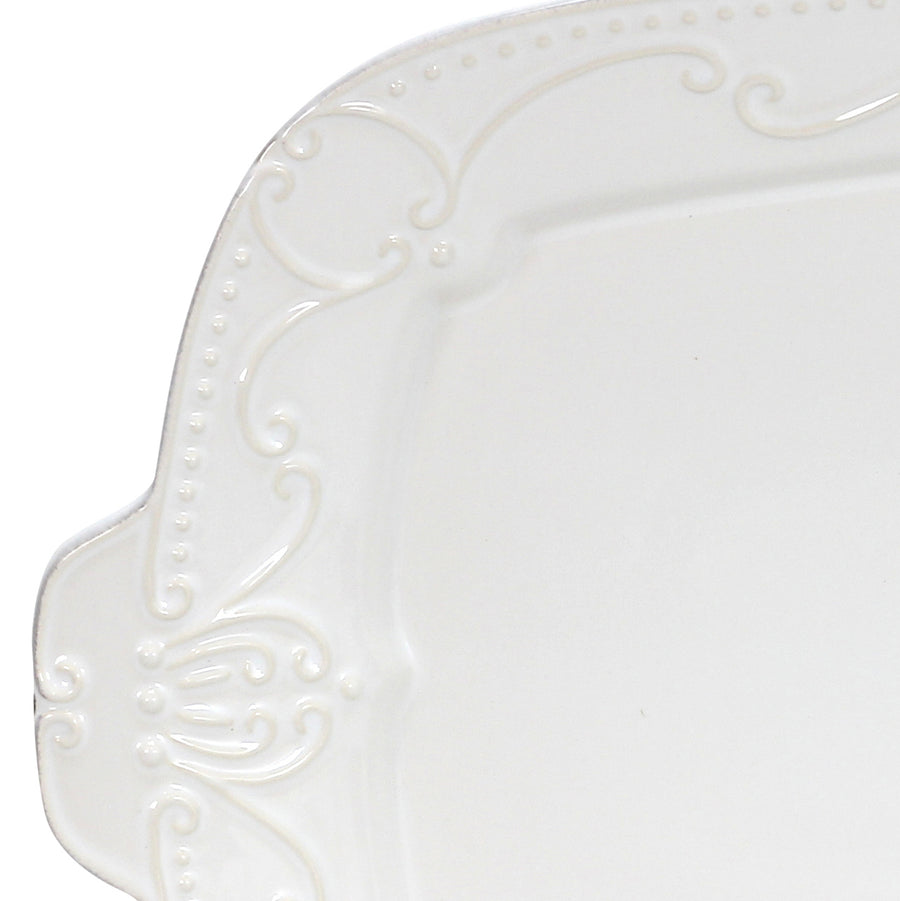 SKYROS: ISABELLA - Rectangular Tray Pure White
