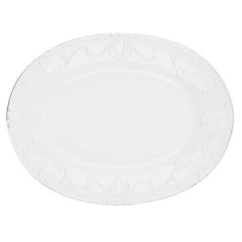 SKYROS: ISABELLA - Oval Platter Pure White