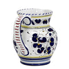 ORVIETO BLUE ROOSTER: Traditional Deruta Pitcher (1.25 Liters/40 Oz/5 Cups)