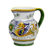 RAFFAELLESCO: Traditional Deruta Pitcher (1.25 Liters/40 Oz/5 Cups)