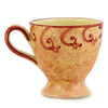 CAFF ANCONA: Footed Coffee Mug Renaissance Style