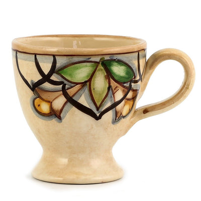 CAFF CETUS: Footed Coffee Mug Renaissance Style
