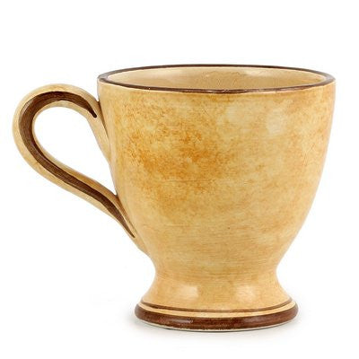 CAFF PAVONE: Footed Coffee Mug Renaissance Style
