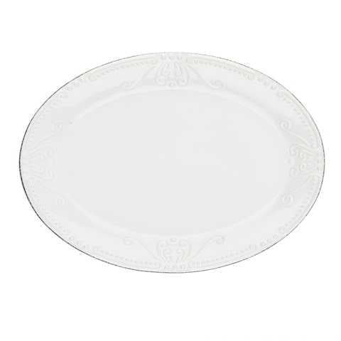 SKYROS: ISABELLA - Small Oval Platter Pure White