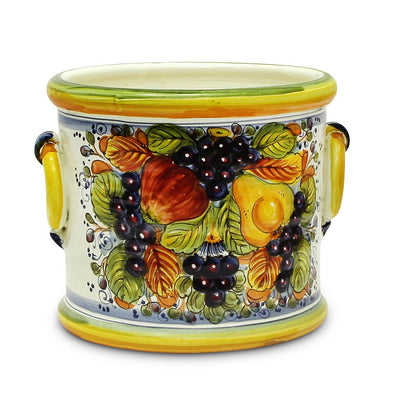 FRUTTA: Cylindrical Cachepot Planter with side rings
