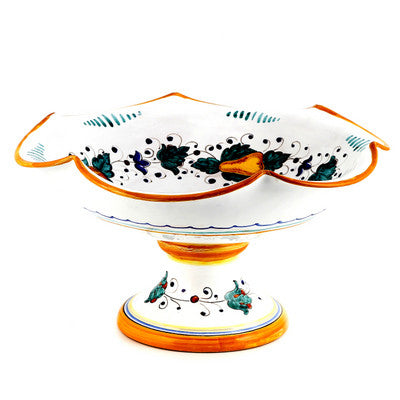 FRUTTINA: Footed scalloped LARGE fruit bowl