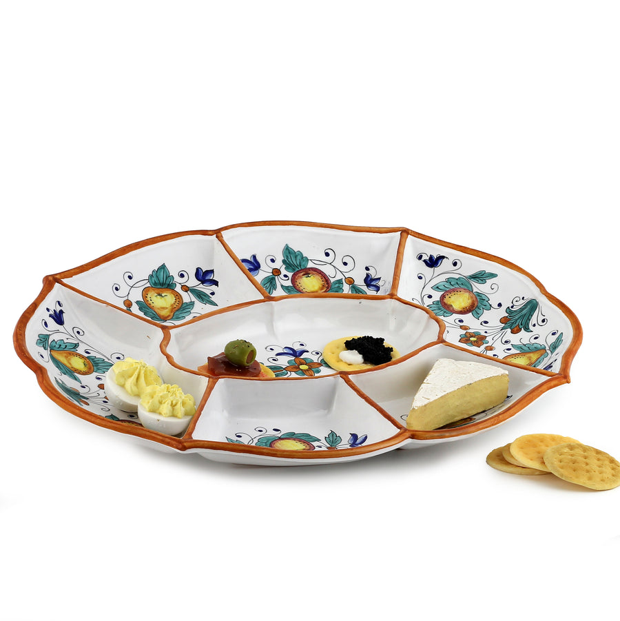 FRUTTINA: Oval Compartment Server Tray (7 Comp)
