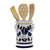 ORVIETO BLUE ROOSTER: Utensil Holder (NEW!)