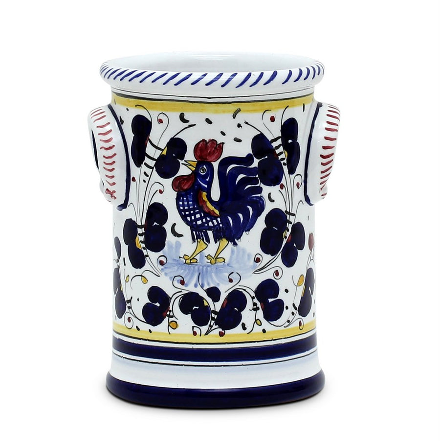 ORVIETO BLUE ROOSTER: Utensil Holder