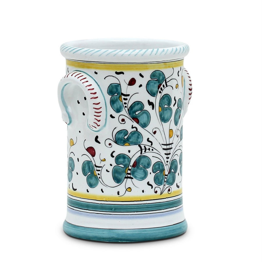 ORVIETO GREEN ROOSTER: Utensil Holder