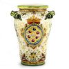 MAJOLICA MEDICI: Large Vase Umbrella Stand with two handles and DeMedici Crest