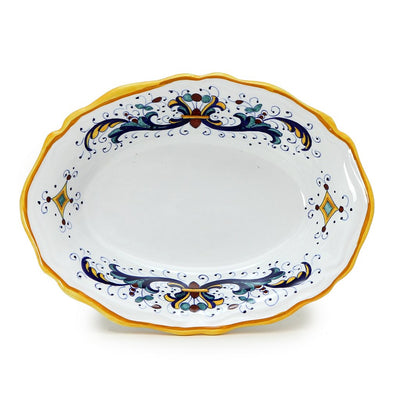 RICCO DERUTA: Oval scalloped Bowl