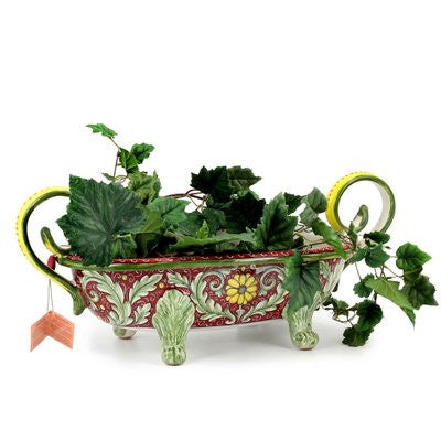 ROCOCO: Oblong Centerpiece with two handles and feet