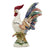 ROOSTER OF FORTUNE: LORENZO Extra Large ceramic Rooster of Fortune with wide tail - Colored