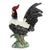 ROOSTER OF FORTUNE: LORENZO Extra Large ceramic Rooster of Fortune with wide tail - Black-White