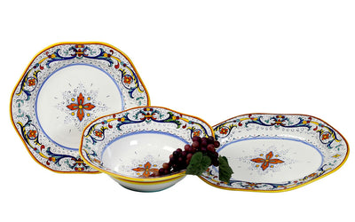 RICCO DERUTA: Large Serving Set Platters (1 Lg Bowl + 1 Lg Charger + 1 Lg Platter)