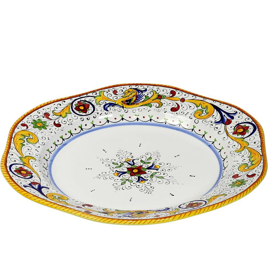 RAFFAELLESCO: Hexagonal Lg Charger Turkey Platter