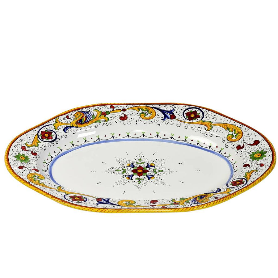 RAFFAELLESCO: Hexagonal Lg Serving Turkey Platter